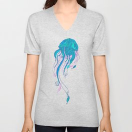 Jellyfish ornament Unisex V-Neck