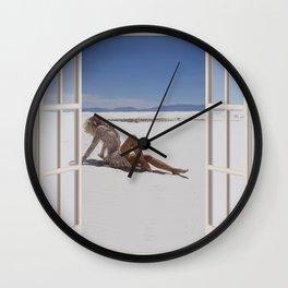 Blond in the Desert | OPEN WINDOW ART Wall Clock