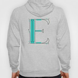 Drop Cap E - decorative letter - typography - monogram - capital Hoody