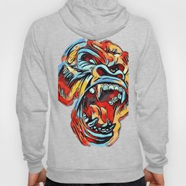 Funky Angry Gorilla in Primary Colors Hoody
