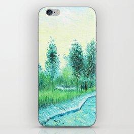 Van Gogh : Park in Asnieres iPhone Skin