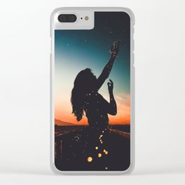 WOMAN - SUNRISE - SUNSET - LIGHTS - PHOTOGRAPHY Clear iPhone Case