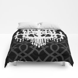 Chandelier Silhouette & Imperial Trellis Comforters