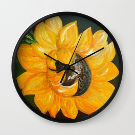 Sunflower Solo Wall Clock