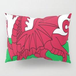 Flag of Wales,uk,great britain,dragon,cymru, welsh,celtic,cymry,cardiff,new port Pillow Sham