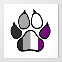 asexual Canvas Prints featuring Asexual Furry Pride by Jeymohr