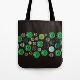 Green Buttons Scanograph Tote Bag