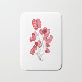 Patterned Poppies Bath Mat