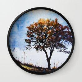 "Original Painting ""Foggy Sunrise"" Wall Clock"
