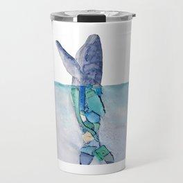 Marine debris whale Travel Mug