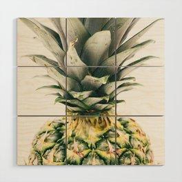 Pineapple Close-Up Wood Wall Art