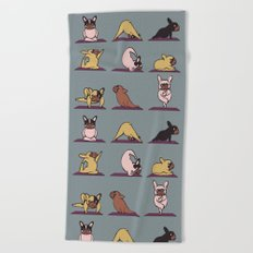Frenchie Yoga Beach Towel