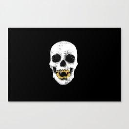 Snake Skin Skull Canvas Print
