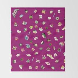 A Mix of Okami Throw Blanket