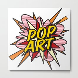 POP ART Comic Book Flash Retro Cool Graphic Art Metal Print