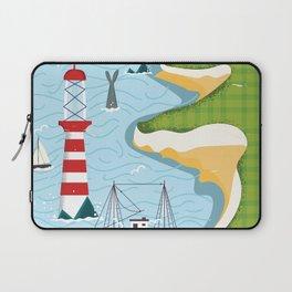 Newfoundland canada vintage travel poster Laptop Sleeve