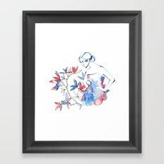 bonjour mademoiselle Framed Art Print