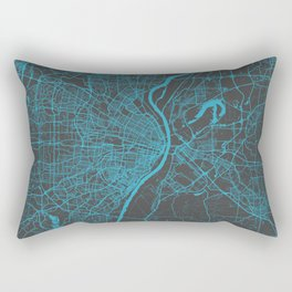 Saint Louis Map Rectangular Pillow