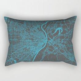 Saint Louis Map Rectangular Pillow