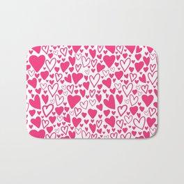 Pink hearts love Bath Mat