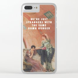 Lawrence Alma-Tadema, Unconscious Rivals (1893) / Halsey, Strangers ft. Lauren Jauregui (2017) Clear iPhone Case