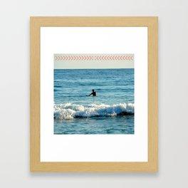 Lone Surfer Framed Art Print