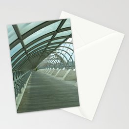 Third millenium bridge,in feature town Zaragoza Stationery Cards