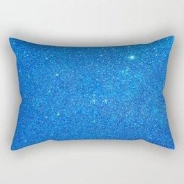Blue Sparkle Rectangular Pillow