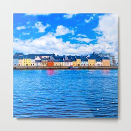 View Of The Long Walk From The Claddagh - Galway Ireland Metal Print