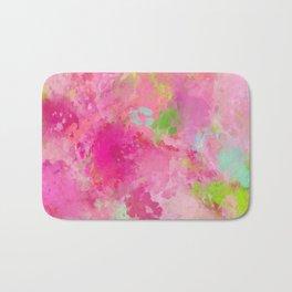 Pink neon green abstract look Bath Mat