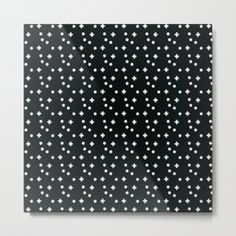 Dots & Crosses Metal Print