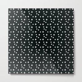 Dots & Crosses Metal Print