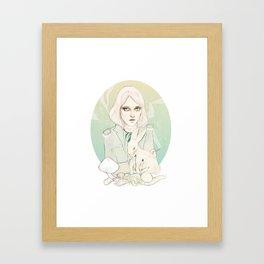 mushroom said Framed Art Print