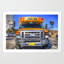 American School Bus Art Print