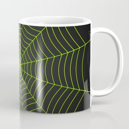 Neon green spider web Coffee Mug
