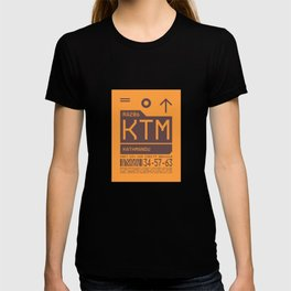 Luggage Tag C - KTM Kathmandu Tribhuvan Nepal T-shirt
