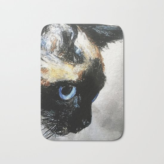 Siamese Cat Right Side Tapestry Bath Mat