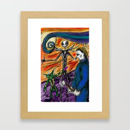 "Stripe, Jack, and Michael ""A Nigt of Mayhem II Framed Art Print"