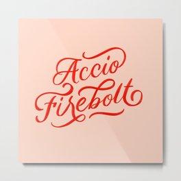 Accio Firebolt Metal Print