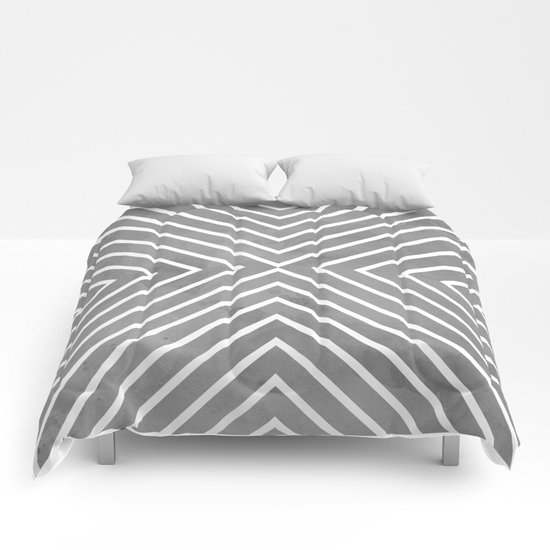 Stripes in Grey Comforters