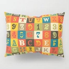 VINTAGE ALPHABET Pillow Sham