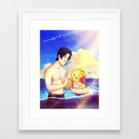 markiplier Framed Art Prints featuring Markiplier and Chica - Family Moments by Draw With Rydi