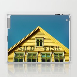 Sunny Yellow House Laptop & iPad Skin