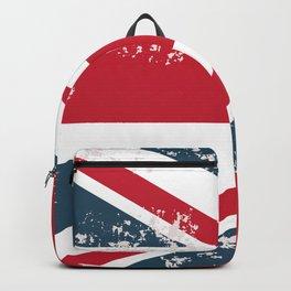 British vector flag in grunge vintage style Backpack