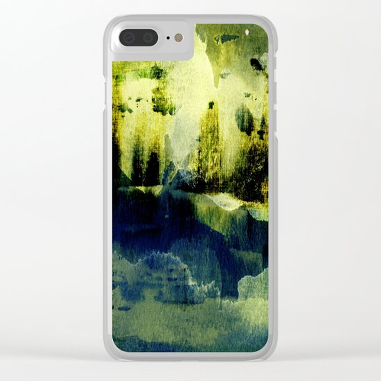 abstract landscape with light Clear iPhone Case