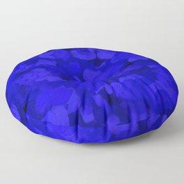 Rich Cobalt Blue Abstract Floor Pillow