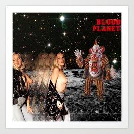 Blood Planet Art Print