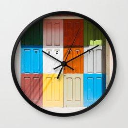 Malta Doors Wall Clock