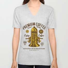 Classic Coffee Maker - Locally Brewed Unisex V-Neck