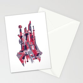 City of the Clowns - red Stationery Cards